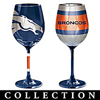 Denver Broncos Wine Glass Collection