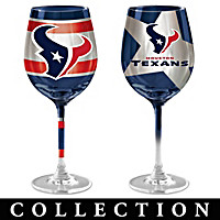 Houston Texans Wine Glass Collection