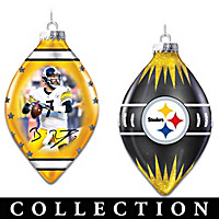 Steelers Heirloom Glass Ornament Collection