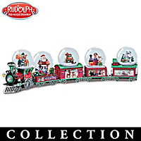 Rudolph The Red-Nosed Reindeer Express Snow Globe Collection