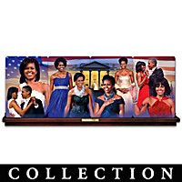 Michelle Obama: America\'s First Lady Plate Collection