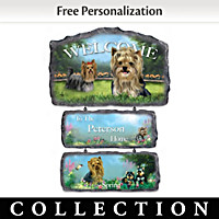 Lovable Yorkies Personalized Welcome Sign Collection