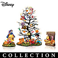 Disney Trick Or Treat Halloween Tabletop Tree Collection