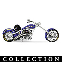 Baltimore Ravens Motorcycle Figurine Collection