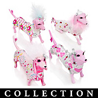 Dachshund Divas For Hope Figurine Collection