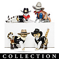 Spurs \'N Fur Kitty Cowboys Figurine Collection