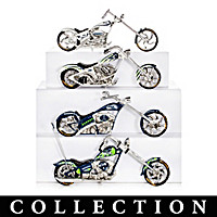 Seattle Seahawks Motorcycle Figurine Collection