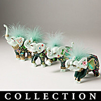 Luck Of The Irish Elephant Figurine Collection