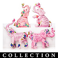 Elephants Of Beautiful Blessings Figurine Collection