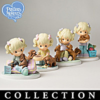 Precious Moments The Joy Of Dachshunds Figurine Collection