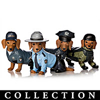 To Paw-tect & Serve Dachshund Figurine Collection