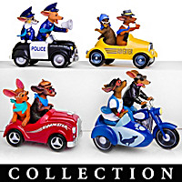 Fast And Furr-iest Dachshund Figurine Collection