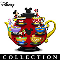 Mickey Mouse And Friends Sweet Tea Cups Figurine Collection