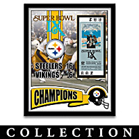 Pittsburgh Steelers Ticket To Victory Wall Decor Collection
