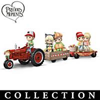 Precious Moments Happy Hayride Figurine Collection