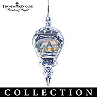 Thomas Kinkade Annual Crystal Ornament Collection