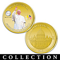 Pope Francis First USA Visit Golden Proof Coin Collection