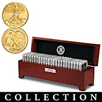 Gold-Plated Walking Liberty Half Dollar Coin Collection