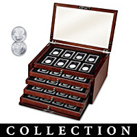 The Complete Morgan And Peace Silver Dollar Coin Collection