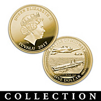 World\'s Greatest Naval Battles Gold Dollar Coin Collection