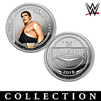 The WWE Hall Of Fame Proof Coin Collection