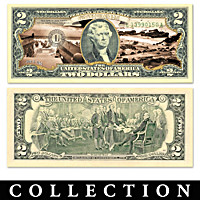 All-New World War II Battles $2 Bills Currency Collection
