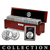 Complete American Eagle Silver Dollar Coin Collection