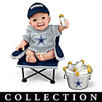 Dallas Cowboys Tailgatin\' Tots Baby Doll Collection