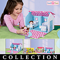 Comfy Town Doll House, Plush Doll & Accessory Collection