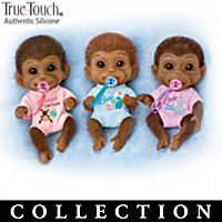 Happy Little Handfuls Monkey Doll Collection