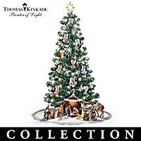 Thomas Kinkade Blessed Nativity Christmas Tree Collection