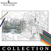 Thomas Kinkade Artistic Escapes Coloring Kit Collection