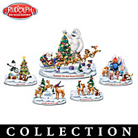 Rudolph\'s Christmas Town Figurine Collection