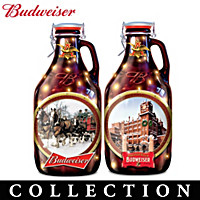 Budweiser Illuminated Growler Sculpture Collection