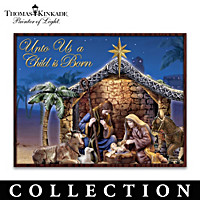 Thomas Kinkade Unto Us A Child Is Born Nativity Collection