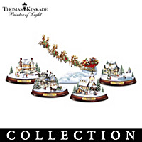 Thomas Kinkade Season Of Enchantment Sculpture Collection