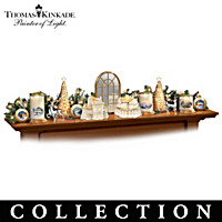 Thomas Kinkade Winter Elegance Sculpture Collection