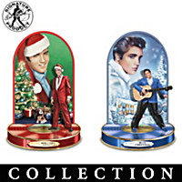 Elvis Christmas Memories Sculpture Collection