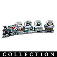Philadelphia Eagles Miniature Snow Globe Train Collection