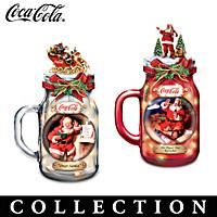 COCA-COLA Illuminated Mason Jar Sculpture Collection