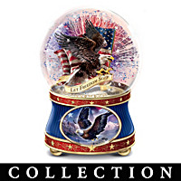 Land Of The Free Glitter Globe Collection
