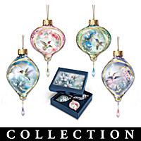 Jewels Of The Garden Hummingbird Ornament Collection