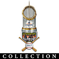 World Series Champions Astros Trophy Ornament Collection