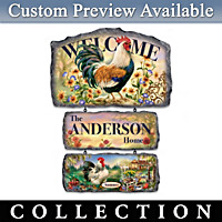 Country Charm Personalized Welcome Sign Collection