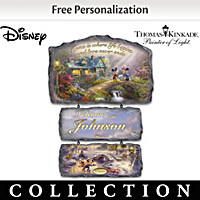 Disney\'s Seasons Of Joy Personalized Welcome Sign Collection