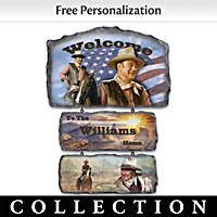 John Wayne Personalized Welcome Sign Collection