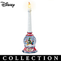 Disney Glowing Holiday Snowglobe Candleholder Collection