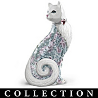Shimmering Enchantment Mosaic Cat Figurine Collection
