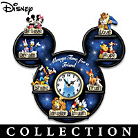 Disney Time With Friends Wall Clock Collection