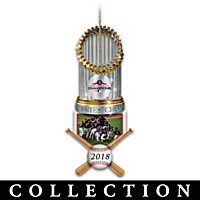 World Series Champions Red Sox Trophy Ornament Collection
